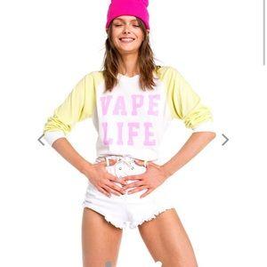Wildfox vape life long sleeve t shirt